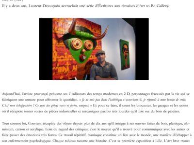 Vieux-Lille : Laurent Dessupoiu et Constant, deux artistes libre